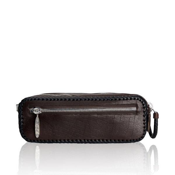 Double Zipper Bison and Kangaroo Dopp Kit Legacy
