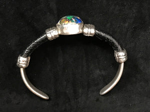 Sterling Silver with Opal and Ostrich Leg