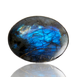 Sterling Silver Labradorite Belt Buckle