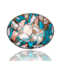 Mojave Turquoise Pink Belt Buckle