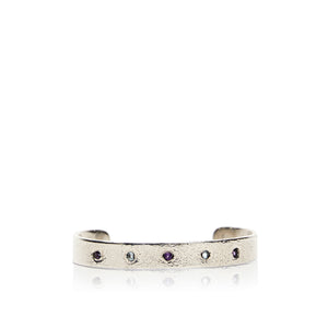 Sterling Silver Cuff with Amethyst and Blue Topaz