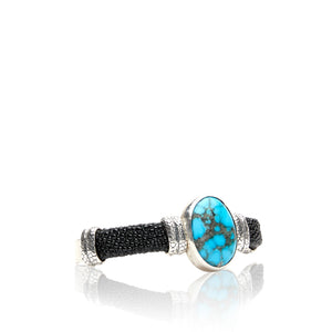 Sterling Silver Men's Kingman Turquoise Cuff