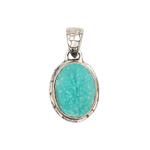 Ostrich Pendant - Medium size with Gem Silica Druzy