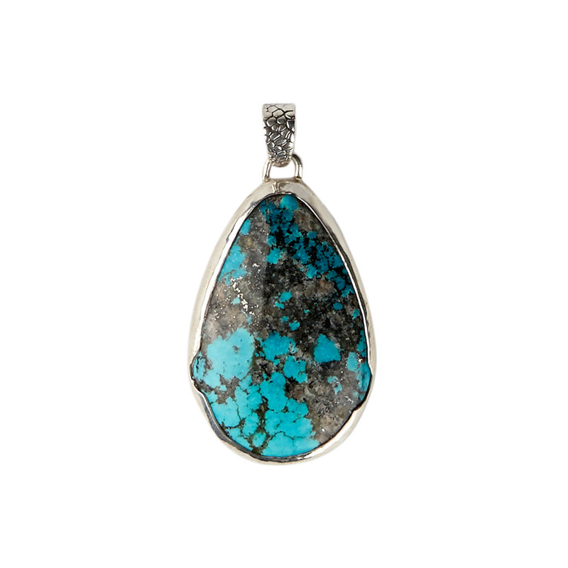 Sterling Silver Mexican Turquoise Pendant