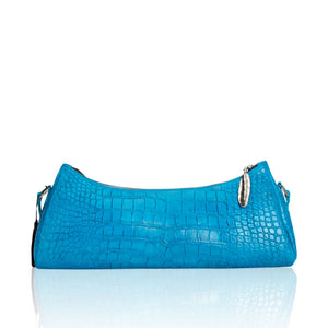 Queen Anne Blue Alligator Clutch with Pietersite