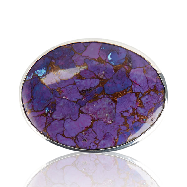 Mojave Turquoise Purple Belt Buckle