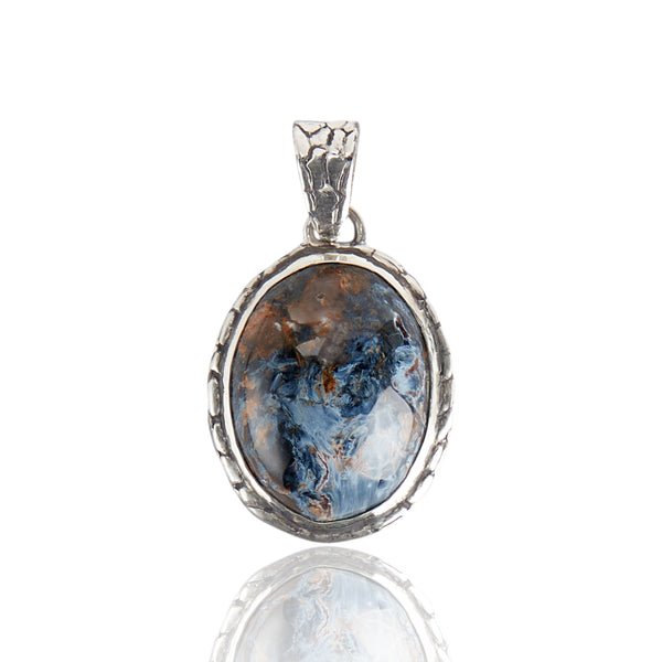Sterling Silver Ostrich Pietersite Pendant