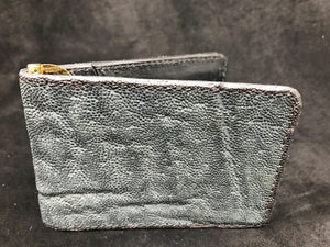 Money Clip Wallet- Gray Elephant