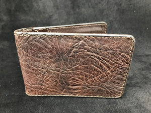 Money Clip Wallet- Brown Bison