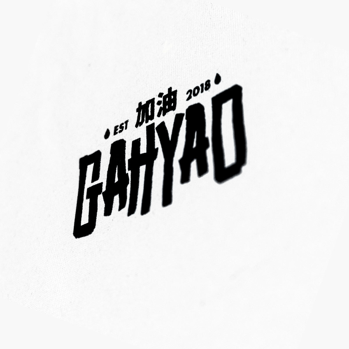 Gahyao White Logo Tee - Logo Close up