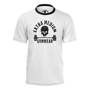 XM GYMWEAR WHITE DEAD LIFT T SHIRT