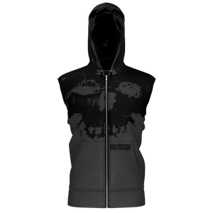XMGYMWEAR DESTROYER OF WORLDS GHOST GRAY SLEEVELESS HOODIE