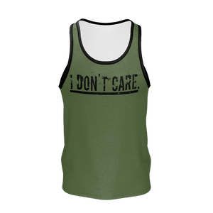 XM GYMWEAR IDC MILITARY GREEN TANK TOP