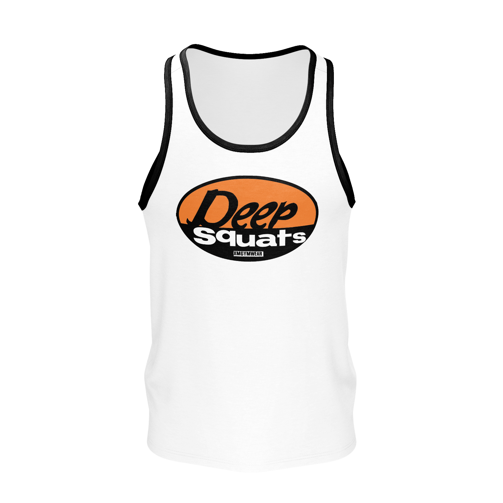 XMGYMWEAR WHITE DEEP SQUATS TANK TOP