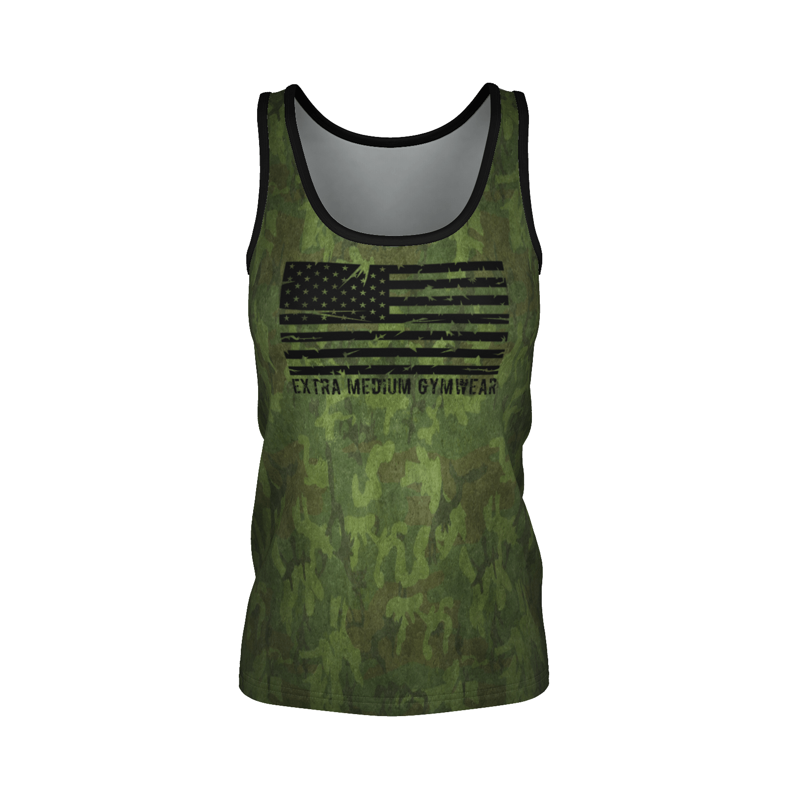 XM GYMWEAR BATTLEGROUND WOMEN'S CAMO TANK