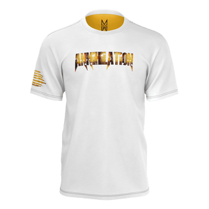 WHITE ANNIHILATION AGENT ORANGE T-SHIRT