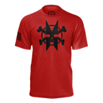 BONES BATTLEFIELD BLOOD RED TSHIRT