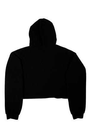 XMGYMWEAR WOMEN'S TORE UP CROPPED HOODIE