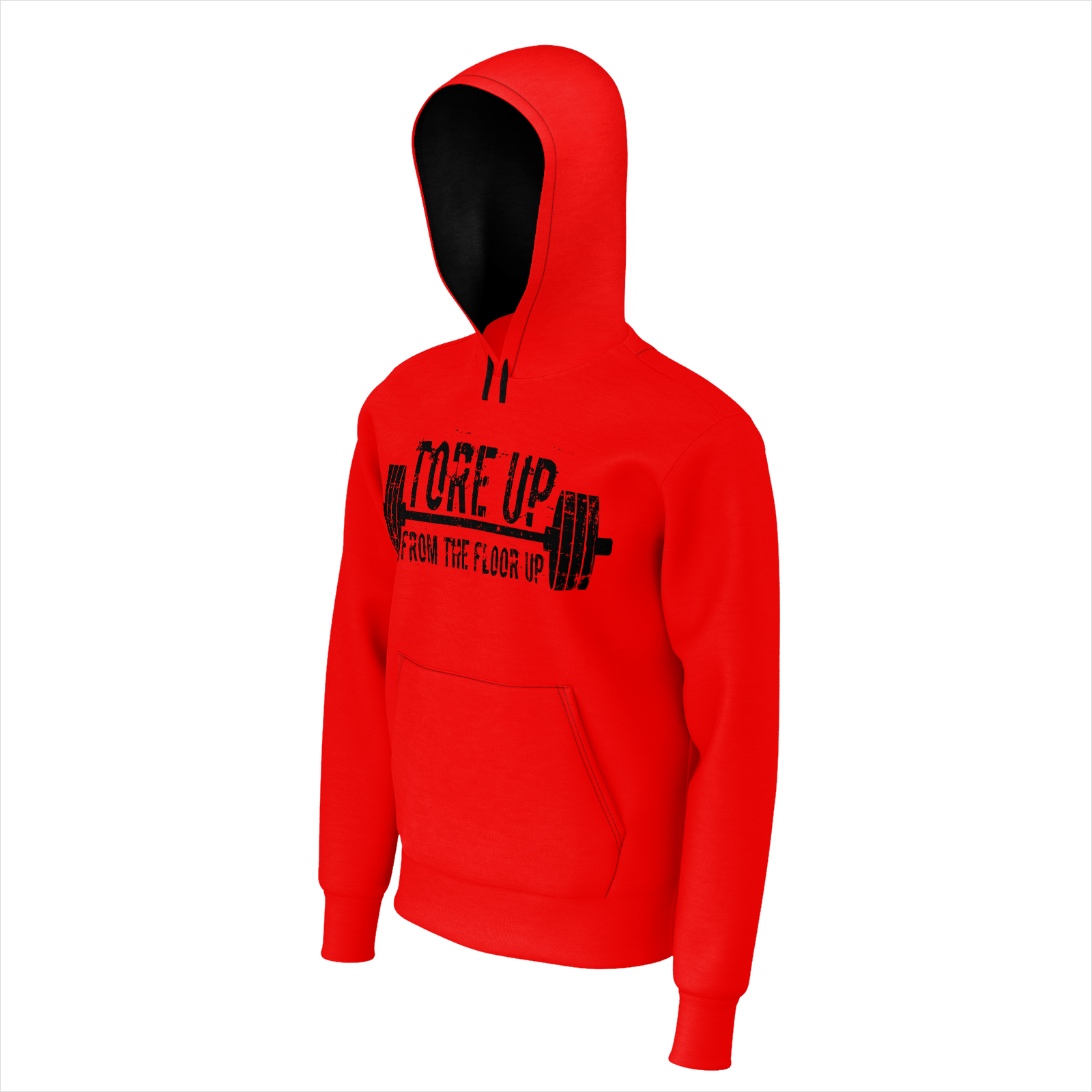 RED TORE UP HOODIE