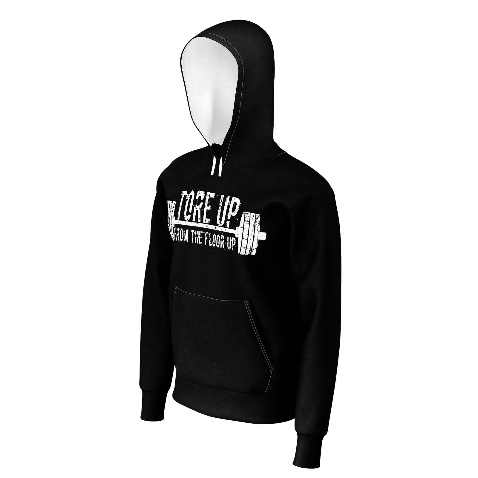 TORE UP BLACK AND WHITE HOODIE