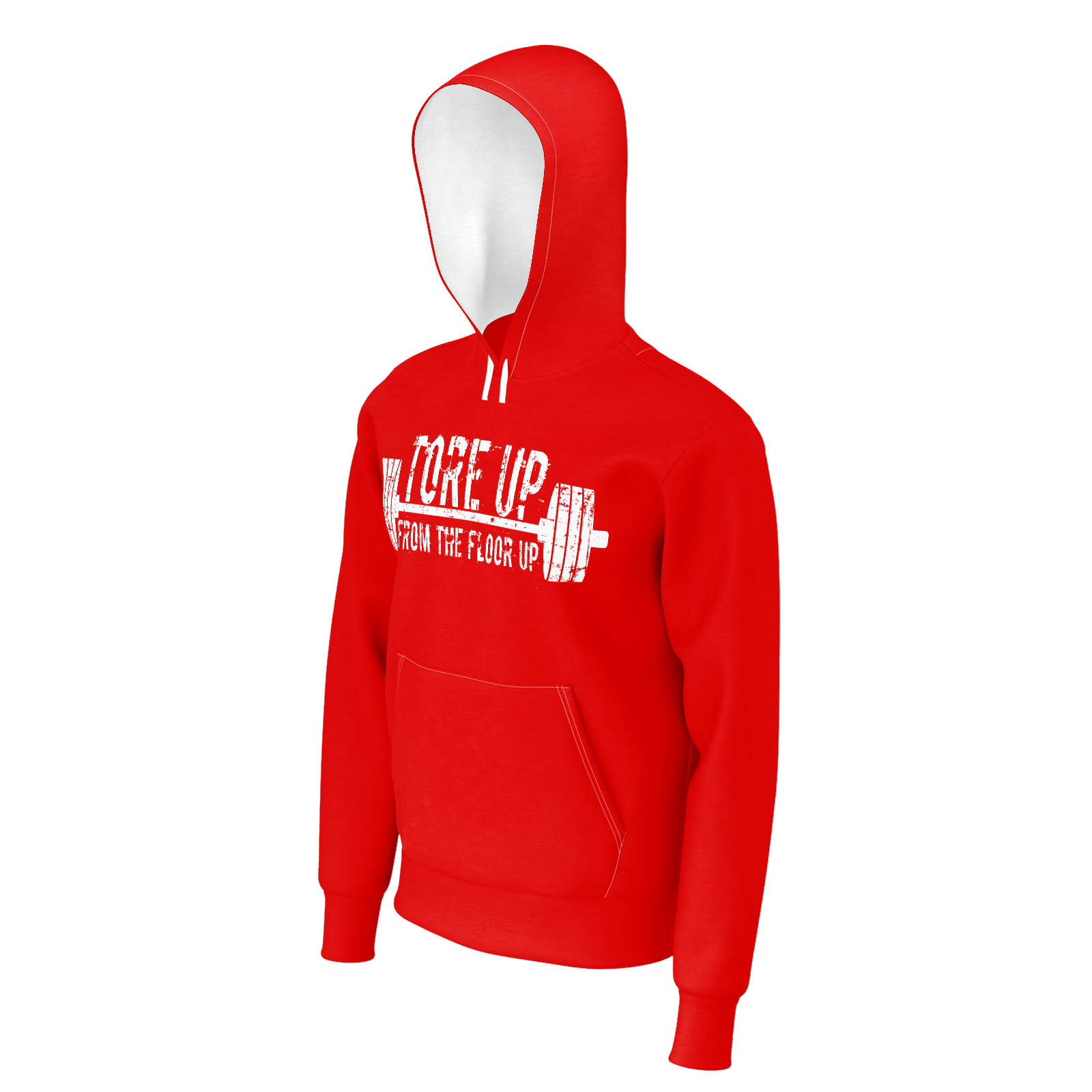 TORE UP RED AND WHITE HOODIE