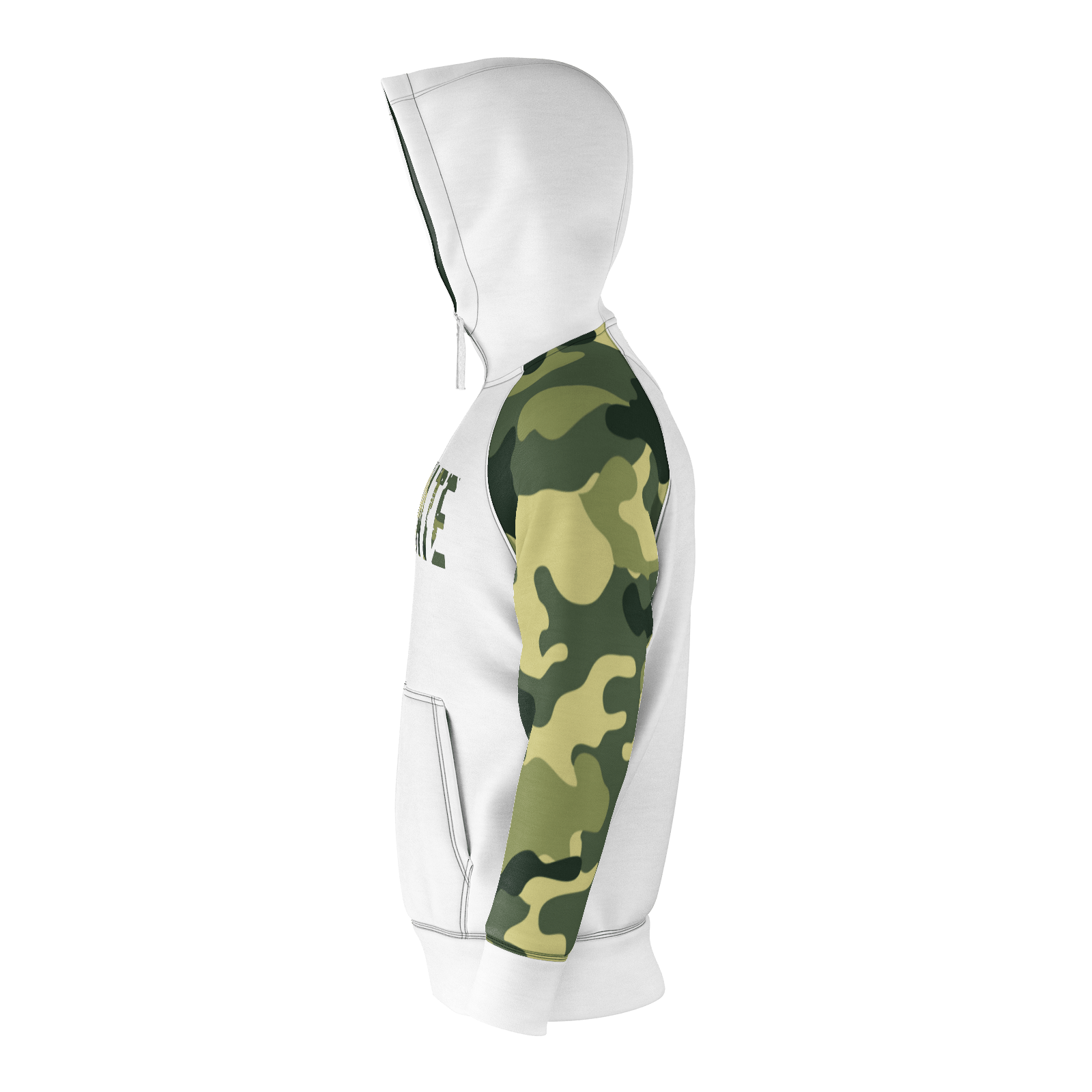 ANNIHILATE WHITE AND CAMO RAGLAN HOODIE