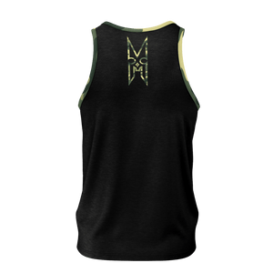 XMGYMWEAR ANNIHILATE BLACK AND CAMO TANK TOP