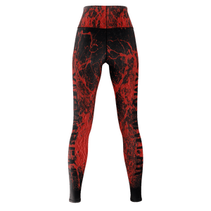 XM GYMWEAR SLAUGHTER RED LEGGINGS