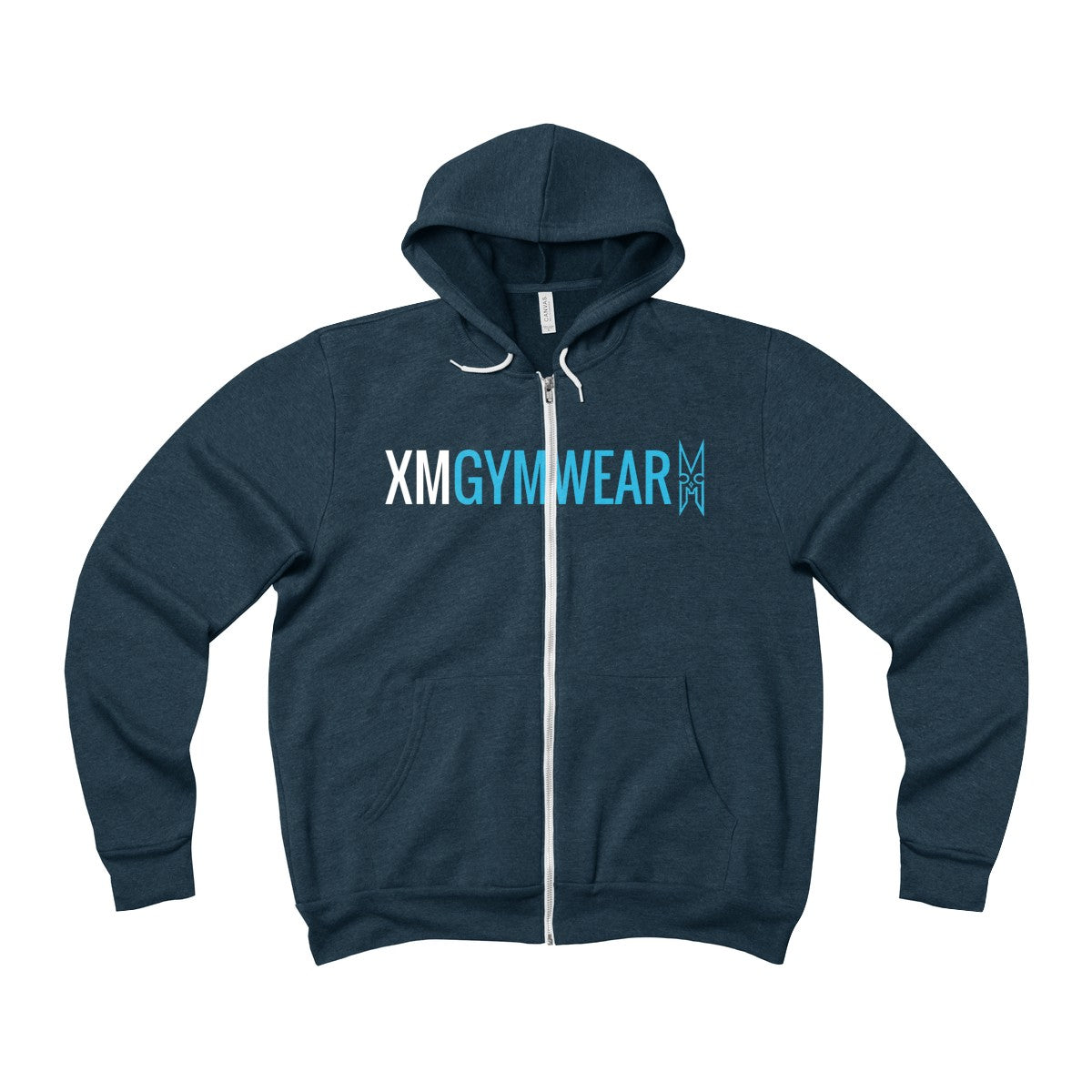 XMGYMWEAR Unisex Sponge Fleece Full-Zip Hoodie