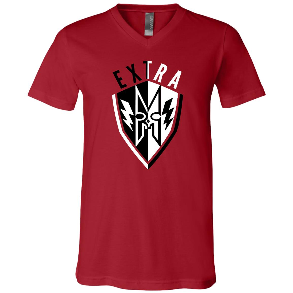 EXTRA Shield Unisex Jersey SS V-Neck T-Shirt
