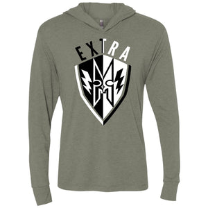 EXTRA Shield Unisex Triblend LS Hooded T-Shirt