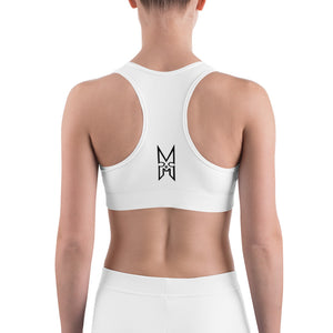 XMGYMWEAR Black and Grey Logo Sports bra