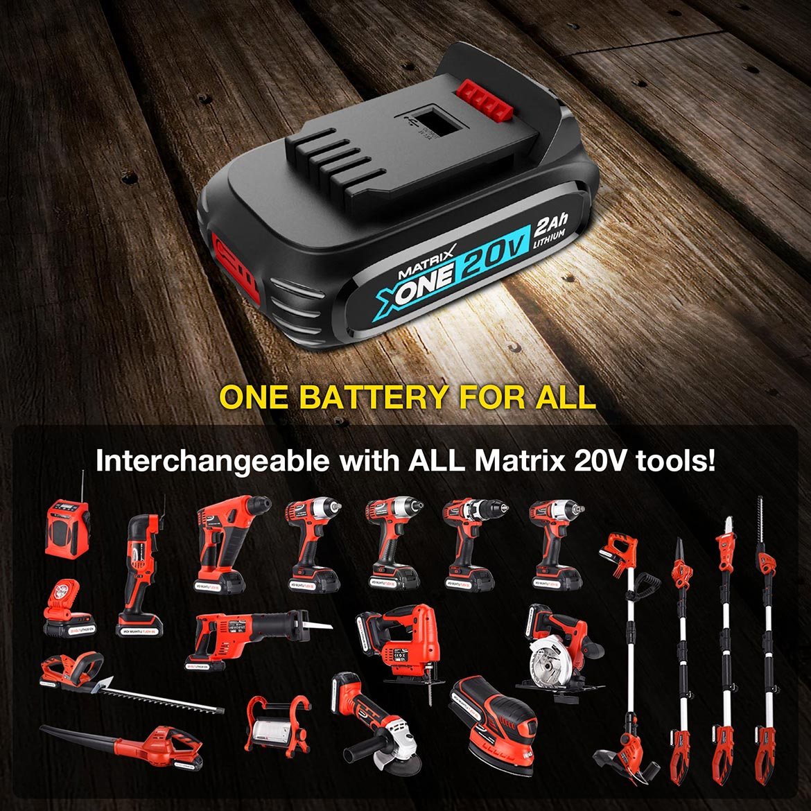ONE BATTERY FOR ALL