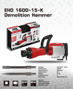 Demolition Jack Hammer EHD 1600-15-K - MATRIX Australia