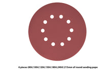Load image into Gallery viewer, 6 Pieces 10 Holes Sanding Discs Sander Paper For Drywall Sander ?? 225 - MATRIX Australia