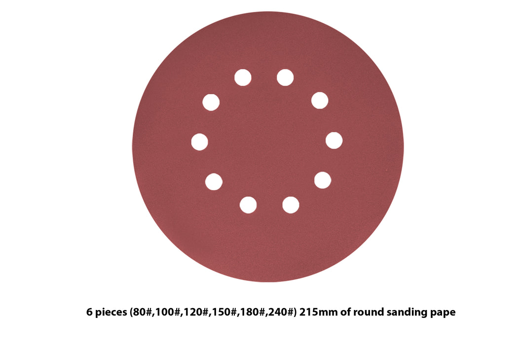 6 Pieces 10 Holes Sanding Discs Sander Paper For Drywall Sander ?? 225 - MATRIX Australia
