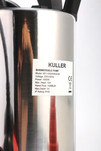 KULLER Electric Stainless Steel Dirty Water Submersible Pump 20000L/H