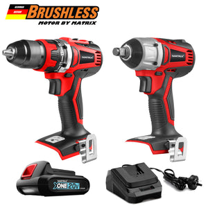 MATRIX 20V X-ONE Brushless Drill and Impact Wrench Combo Kit