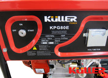 Load image into Gallery viewer, 18HP 8000w Max/7500w Rated Single-Phase Petrol Backup Generator