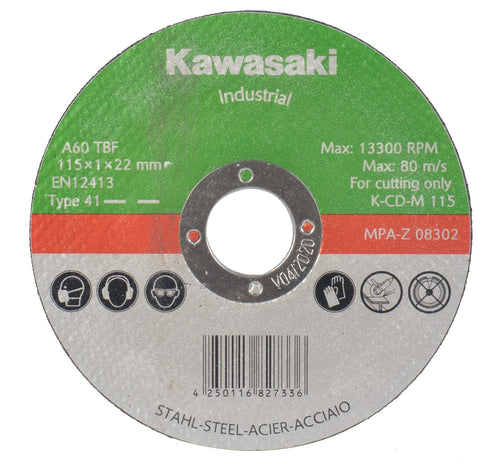 Kawasaki 115m Flat Cut-off Wheels for Metal - MATRIX Australia