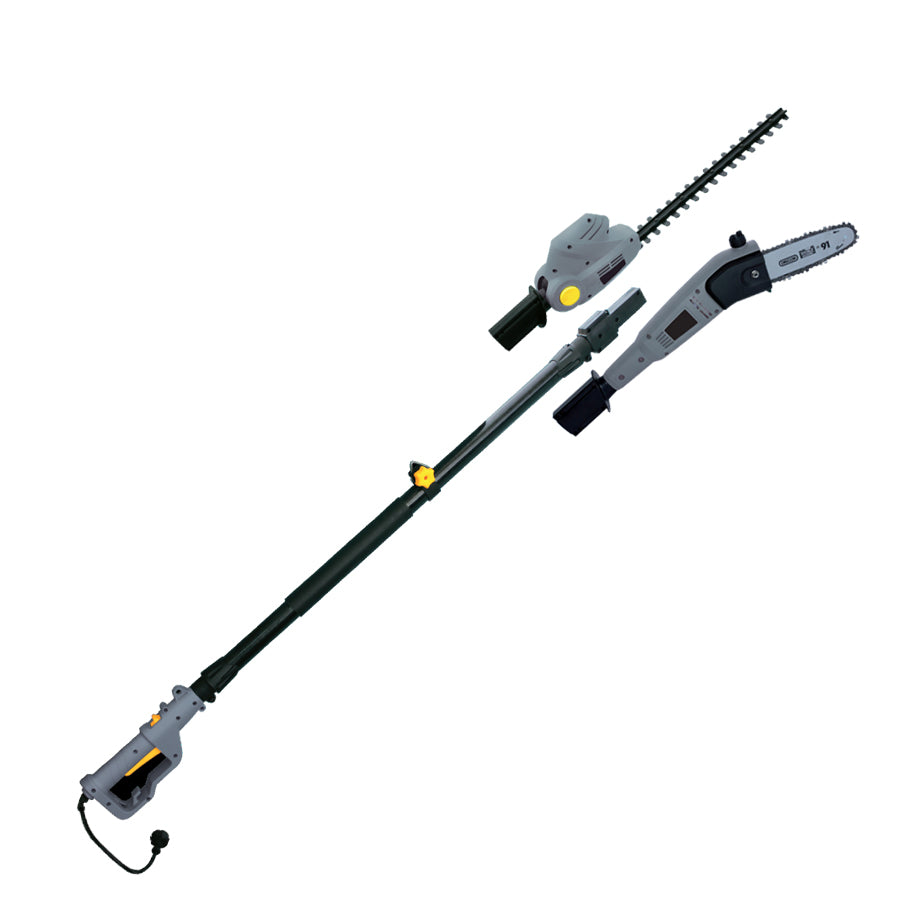 Corded Electric Pole Chainsaw / Hedge Trimmer Multi function 2in1