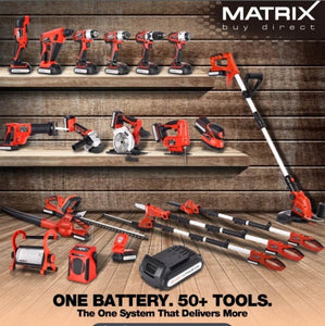 20v X-ONE Cordless Hedge Trimmer Kit - MATRIX Australia