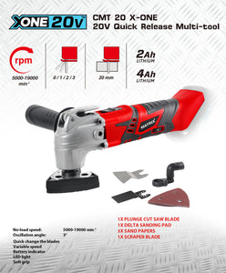 20v X-ONE Cordless Multi Tool - MATRIX Australia