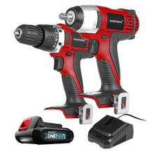 Load image into Gallery viewer, 20v X-ONE Cordless Impact Wrench & Drill Combo Kit - MATRIX Australia