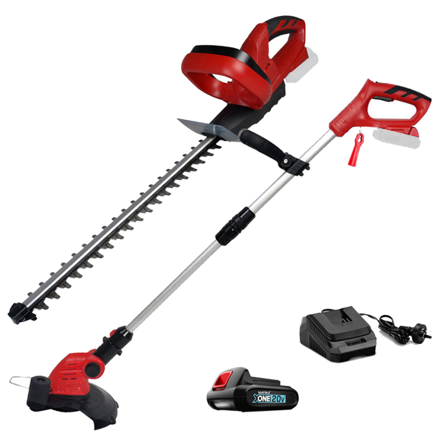 MATRIX 20v X-ONE Grass Trimmer Hedge Trimmer 2in1 Combo Kit