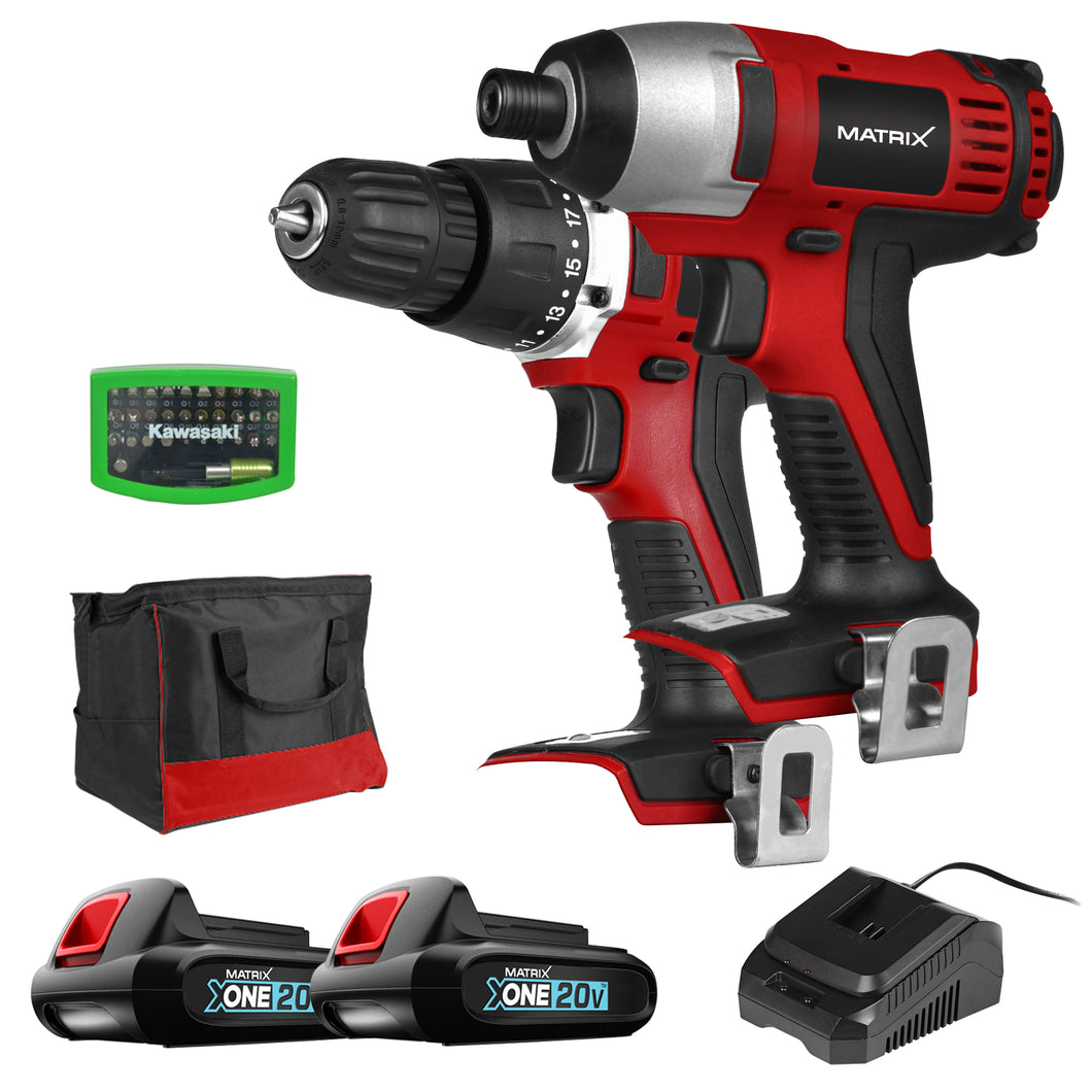 MATRIX 20V X-ONE Drill and Impact Driver Combo Kit