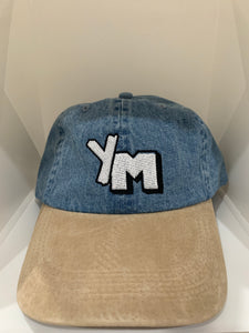 YM denim dad hat