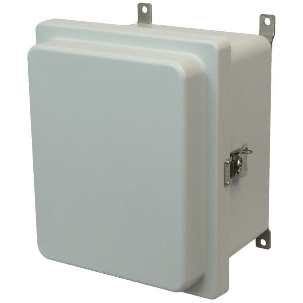 Control Series Fiberglass Enclosure Hinged Twist Latch Opaque Cover