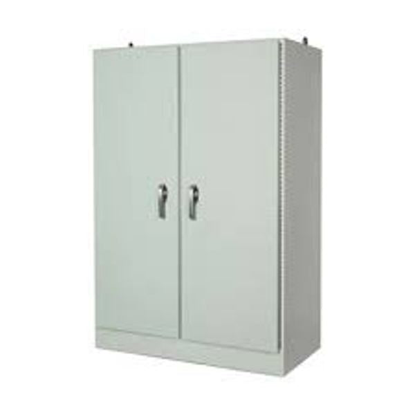 Free Standing Double Door Fiberglass Enclosure 3-Point Lockable Cover