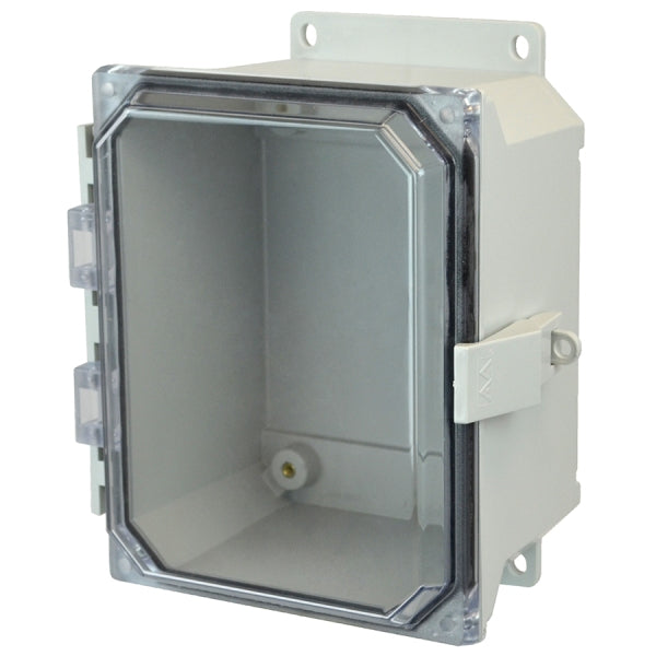 Ultra-Line Fiberglass Series Enclosure- Hinge Snap Latch Clear Cover